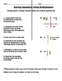 Solving One Step Equations Using Multiplication Notes