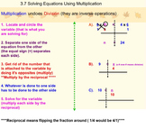 Solving One Step Equations Using Multiplication on Smartboard Notes