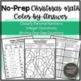 Solving One-Step Equations--Winter Color by Numbers