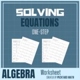 Solving One-Step Equations Worksheet
