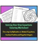Solving One-Step Equations Worksheet ( Multiplication & Di