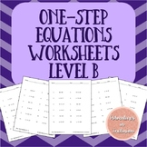 Solving One-Step Equations Worksheets - Level B