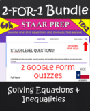 Solving One-Step Equations and Inequalities/ Google Forms For Google Classroom