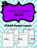 Solving One-Step Equations and Inequalities - STAAR Review Lesson - TEKS 6.10B