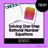 Solving One Step Equations (including Rational Numbers) BINGO