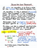 Solving One Step Equations - instructional sheet