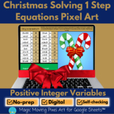 Solving One Step Equations (positive) Christmas Math Pixel