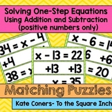 Solving One-Step Equations using Addition and Subtraction