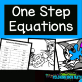 Solving One Step Equations Coloring Book Math