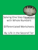 Solving One Step Equations with Whole Numbers: Differentia