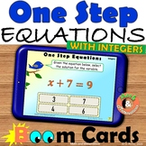 Solving One Step Equations with integers Digital activity