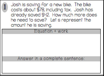 One-Step Equations worksheets (including word problems)