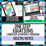 Solving One Step Equations Digital Interactive Notebook Pages