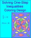 EQUATIONS OR INEQUALITIES: SOLVING ONE-STEP #2 - COLORING ACTIVITY