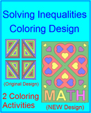 Solving One-Step Inequalities #1 Coloring Activity