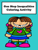 Solving One Step Inequalities Coloring Activity