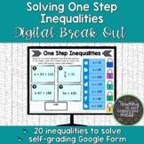 Solving One-Step Inequalities Digital Break Out | Google S