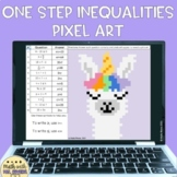 Solving One Step Inequalities Digital Pixel Art