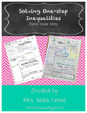 Solving One-Step Inequalities Sketch Notes