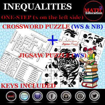 Solving One Step Inequalities Jigsaw & Crossword Puzzles