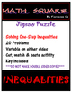 Solving One Step Inequalities Jigsaw Puzzle