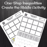 Solving One-Step Inequalities (No Negatives) Create a Ridd