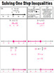 Solving One Step Inequalities Note Page or Exit Ticket 6.EE.8