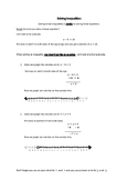 Solving One Step Inequalities Notes and Practice Worksheet