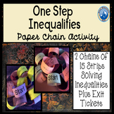 Solving One Step Inequalities Paper Chain Activity