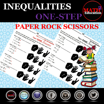 Solving One Step Inequalities Rock Paper Scissors