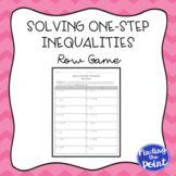 Solving One-Step Inequalities Row Game