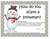 Solving One Step Inequalities - Snowman Riddle