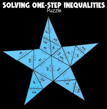 Solving One- Step Inequalities (Star- Shaped PUZZLE)