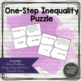 Solving One Step Inequalities Word Problems Puzzle