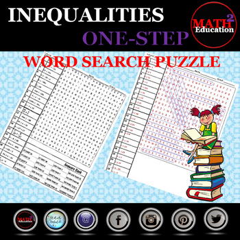 Solving One Step Inequalities Word Search