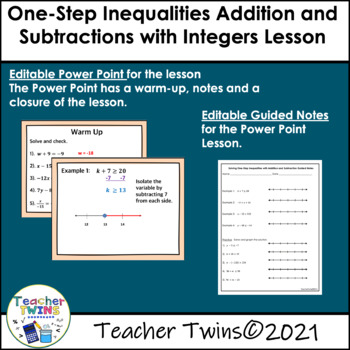 Solving One-Step Inequalities with Addition and Subtractio