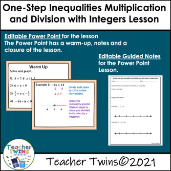 Solving One-Step Inequalities with Multiplication and Division Lesson