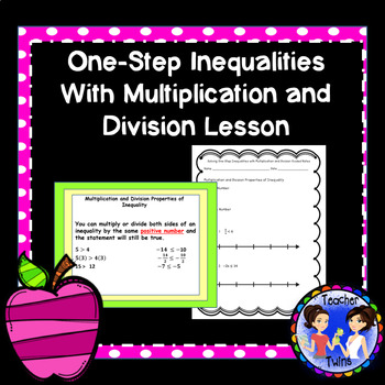 Solving One-Step Inequalities with Multiplication and Divi