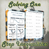 Solving One Step Inequality- Addition & Subtraction (Guided Notes and Practice)