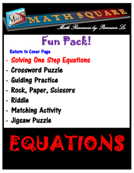 Solving One-Step, Two-Step, and Multi-Step equations SUPER BUNDLE!