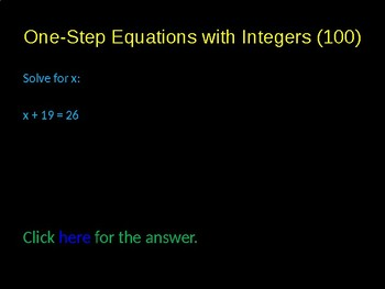 Solving One Step and Two Step Equations Game Activity