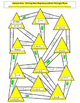 Solving One-Step and Two-Step Inequalities Triangle Mazes