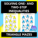 Solving One-Step and Two-Step Inequalities:  Triangle Mazes