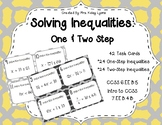 Solving One & Two Step Inequality Task Cards