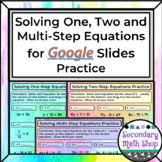 Solving One-, Two- and Multi-Step Equations for GOOGLE SLI