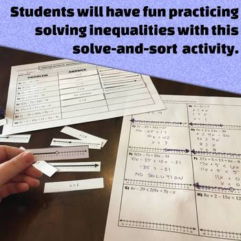 Solving One-Variable Inequalities - All-in-One Bundle - Activities and more!
