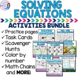 Solving One and Two Step Equations Activities BUNDLE
