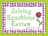 Solving One- and Two-Step Equations Activity