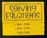 Solving One- and Two- Step Equations (Foldable)