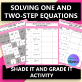 Solving One- and Two- Step Equations:  Find the Pattern Activity